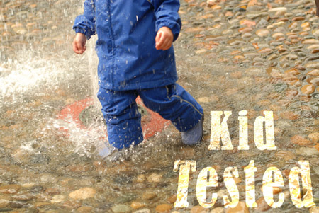 kid-tested - Dallas-James all weather suit.