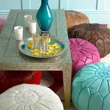 pouf at coffee table