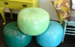 pouf trio at desk and chair